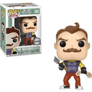 FUNKO - POP! - Games - 262 - Hello Neighbour - The Neighbour With Axe and Rope [Exclusive] [Figurine POP]