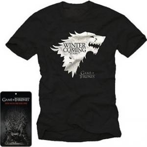 Konix - T-Shirt - Game of Thrones - Stark - Winter is Coming - Logo - Noir [Vêtement]